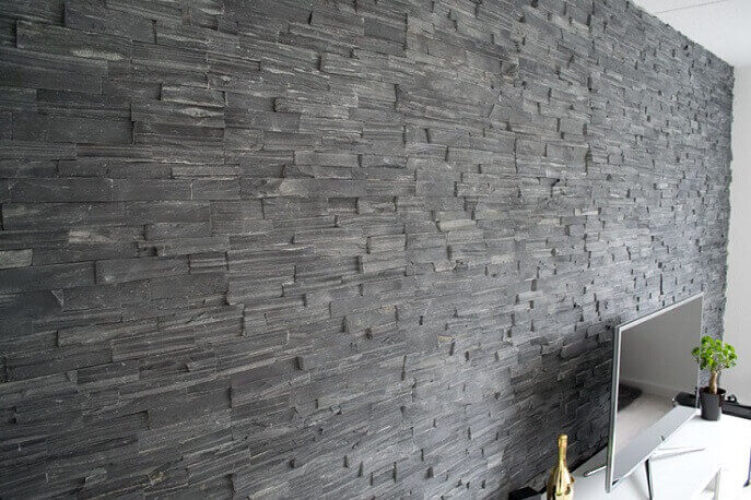 Stonepanels - Black Slate Stone Panels - Split Face