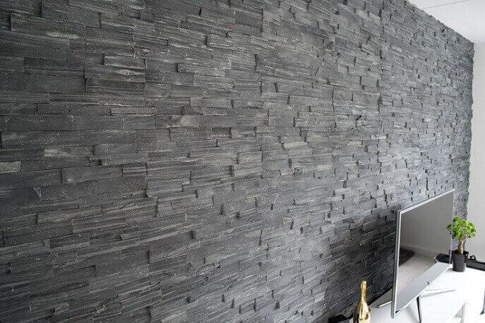 Stonepanels - Black Slate Stone Panels - Split Face