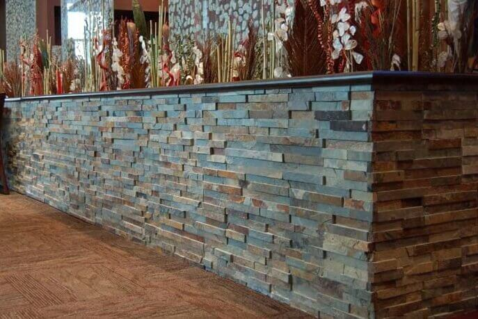 Natuursteen strips - Leisteen Rusty Stone Panels Flat Face