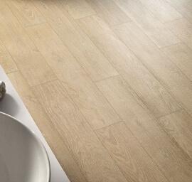 Vloertegels houtlook 15x90 cm - Oaken Sbiancato