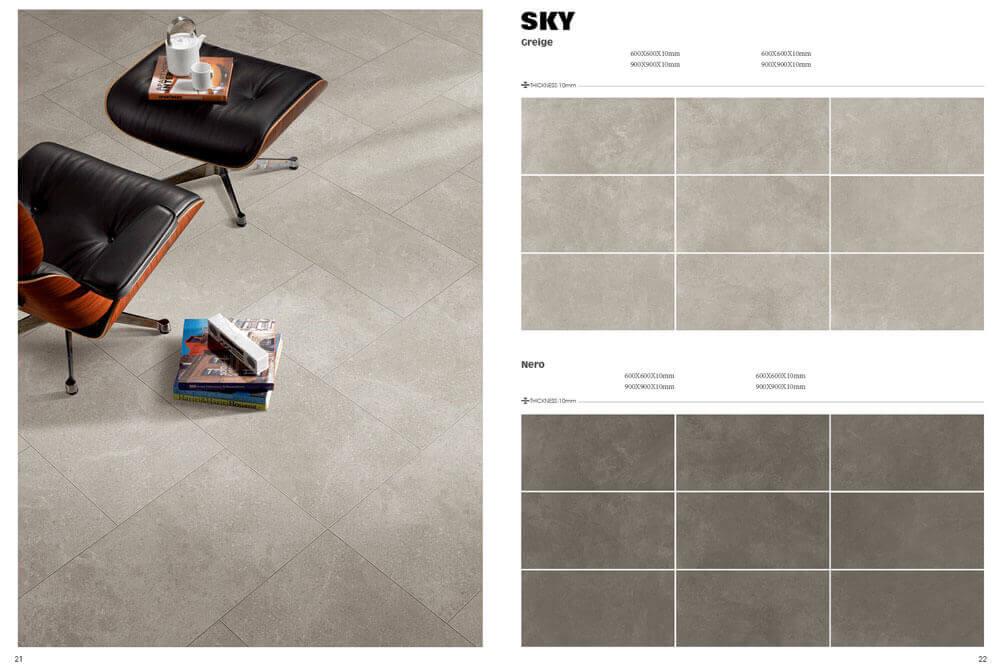 Outlet vloertegels - Sky Nero