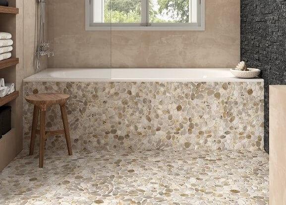 Mozaïek tegels - Perla Bianco Flat