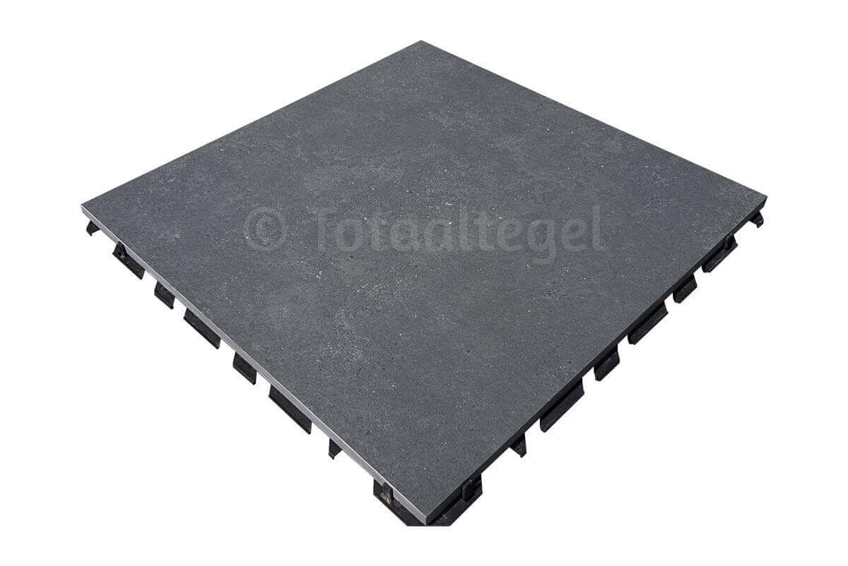 Waterdoorlatende terrastegels - X1 Concrete Black