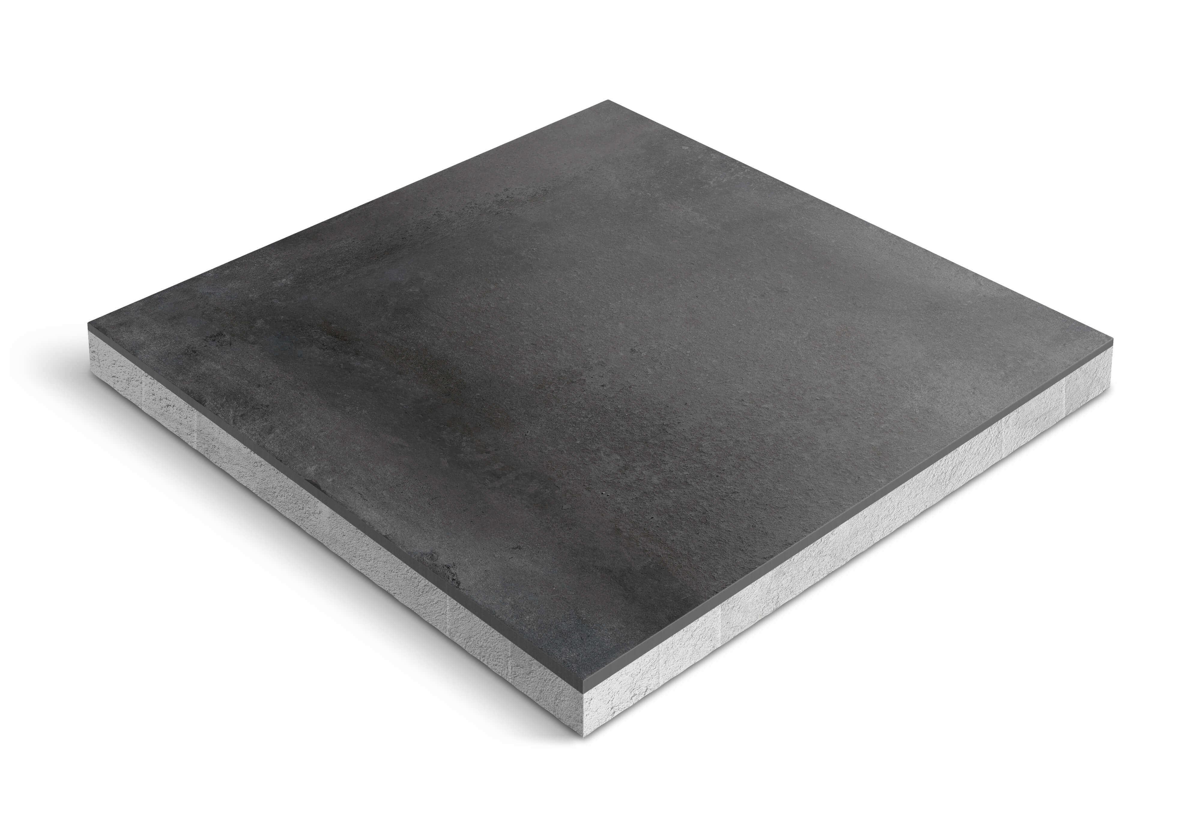 Zwarte terrastegels - CeraDeco Cemento Black