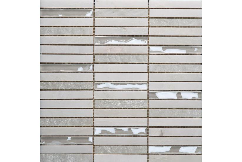 Mozaïek wandtegels - Future Bone / White