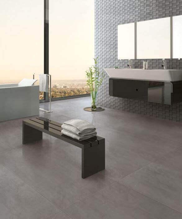 Tegels 100x100 - To Be Concrete Peltro
