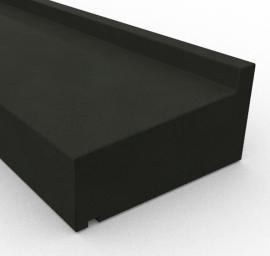 Basalt raamdorpels - Olivian Black / Nero Assoluto Basalt Raamdorpel - 15,5 x 9 cm