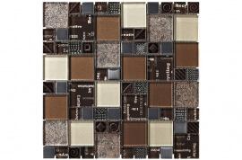 Glas Mozaiek - Carnaval Brown