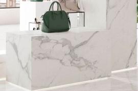Wandtegels Marmer Look - Bianco d'Italia Arabescato - Gepolijst