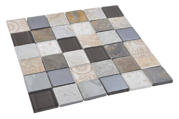 Glas Mozaiek - Elements Beige
