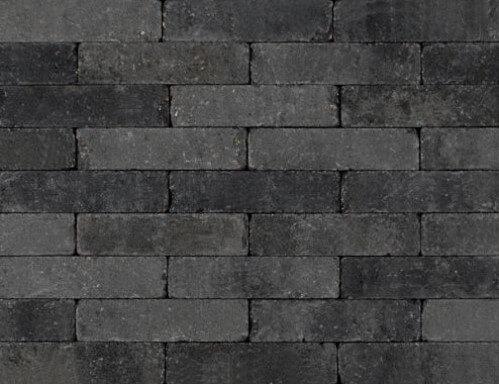Betonbestrating - Sierbestrating Trommel Waalformaat Grijs / Zwart
