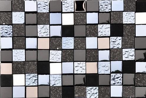 Mozaiek wandtegels - Black Agate