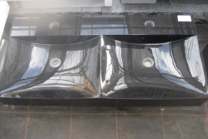Sanitair - Granieten Wasbak Type 6 - 100 cm
