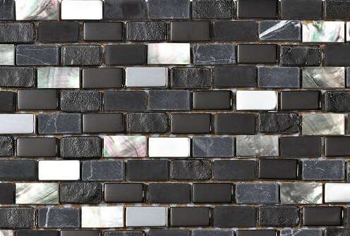 Mozaiek wandtegels - Brick Coal