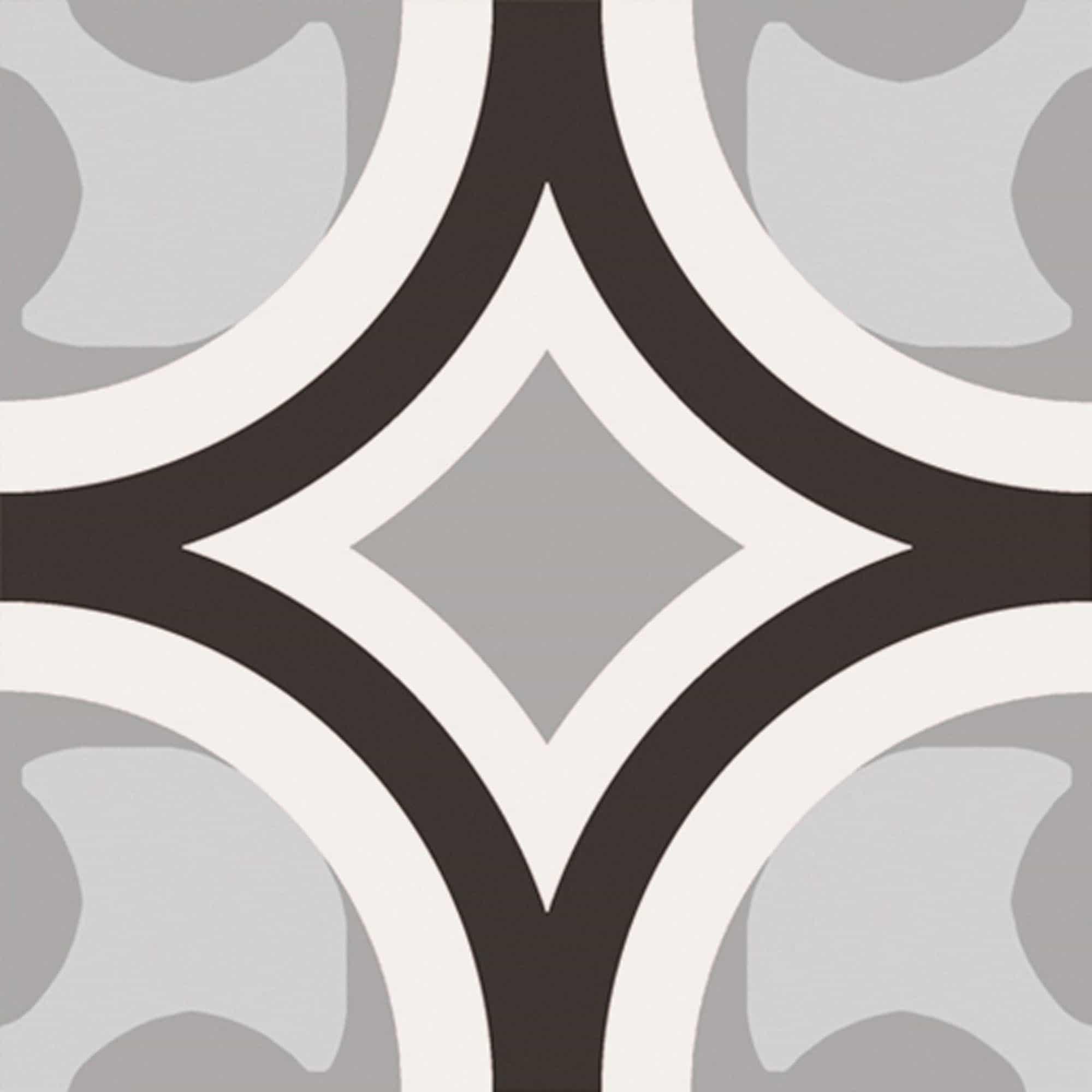 Vloertegels patroon - Patchwork Black & White 01