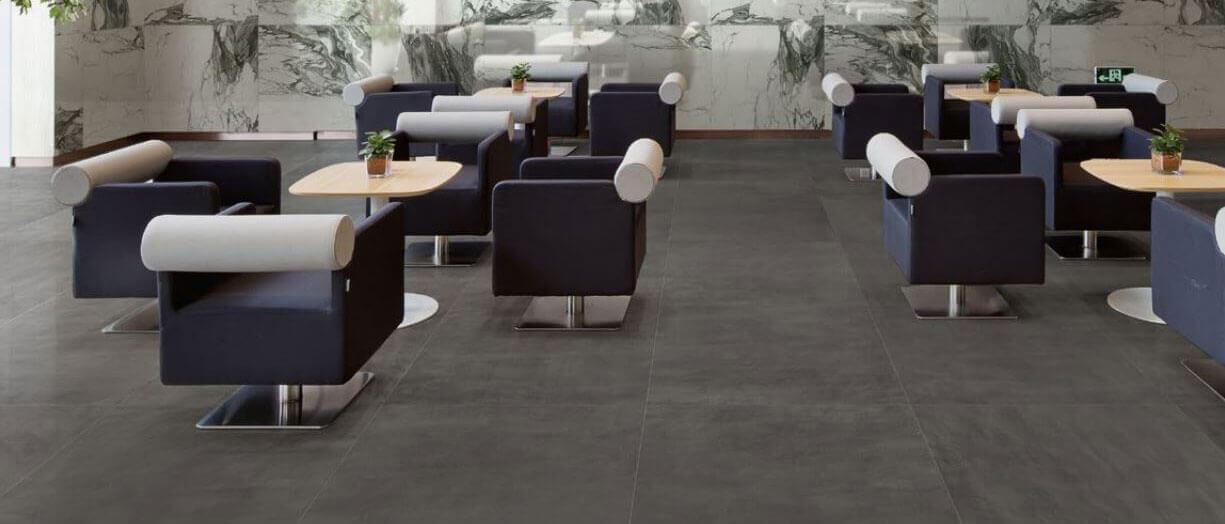 Vloertegels betonlook 100x100 cm - To Be Concrete Antracite