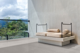 Terrastegels Scandinavische stijl - CeraDeco Nordica Grey Lux