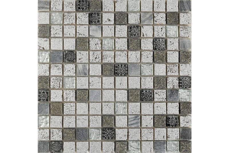 Glas Mozaiek - Imperium Silver