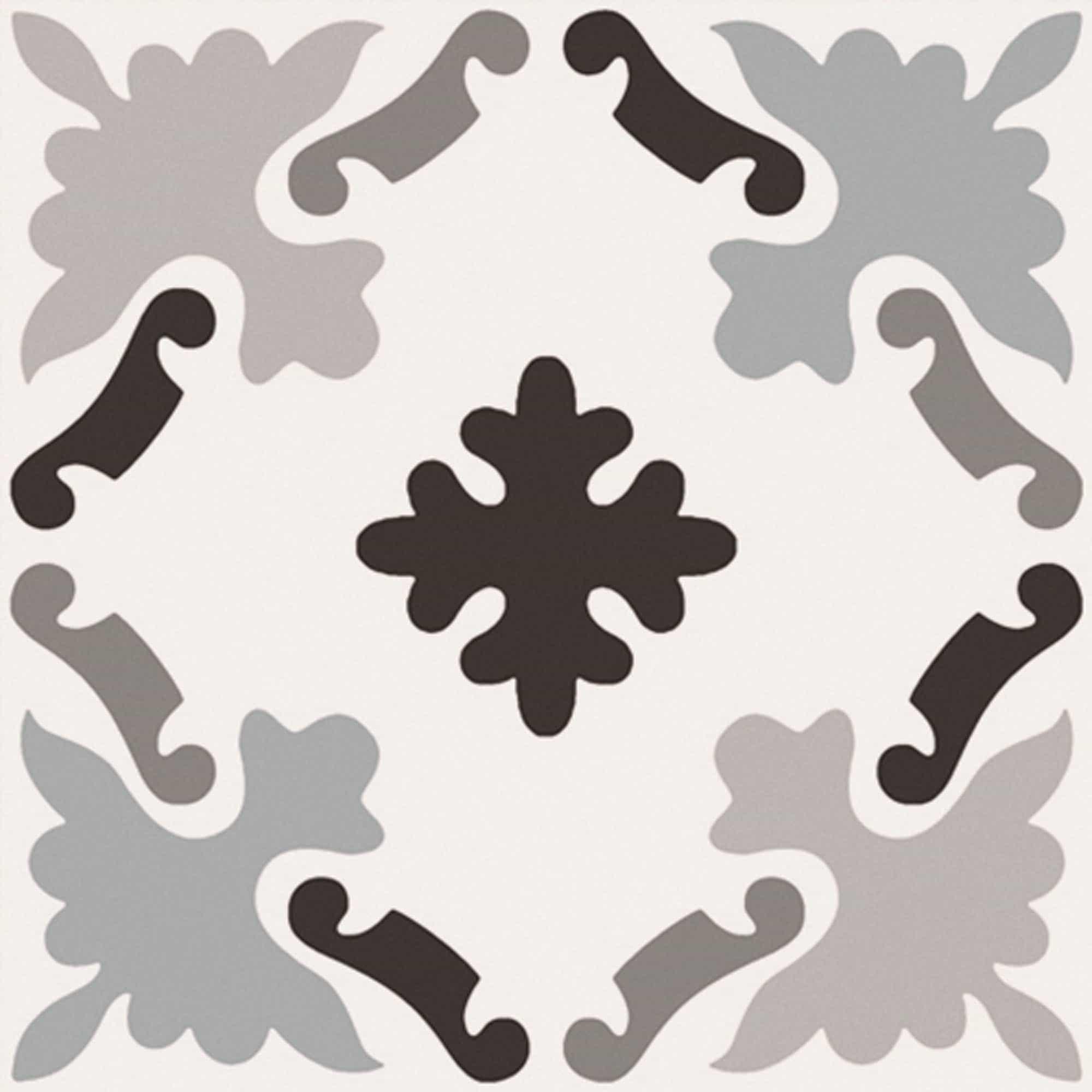 Witte vloertegels - Patchwork Black & White 03