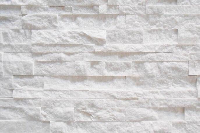 Muurbekleding - White Kwartsiet Stone Panels - Hoekstuk