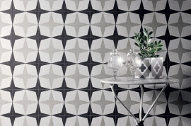 Witte wandtegels - Cementine Black&White 1
