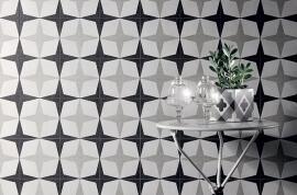 Witte vloertegels - Cementine Black&White 1