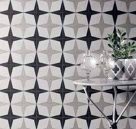 Vloertegels 20x20 - Cementine Black&White 1