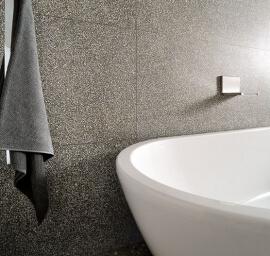 Taupe vloertegels - Terrazzo Beton Mini
