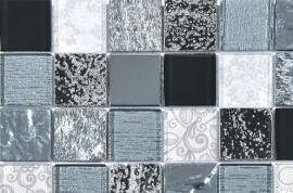 Glas Mozaiek - Barok Black