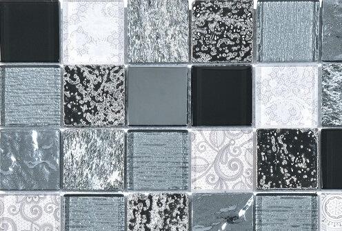 Mozaiek wandtegels - Barok Black