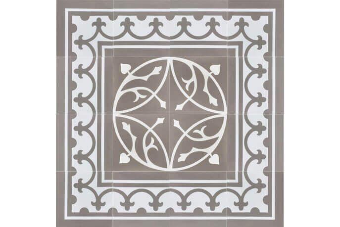 Portugese cementtegels vloer - Den Bosch - Randstuk recht