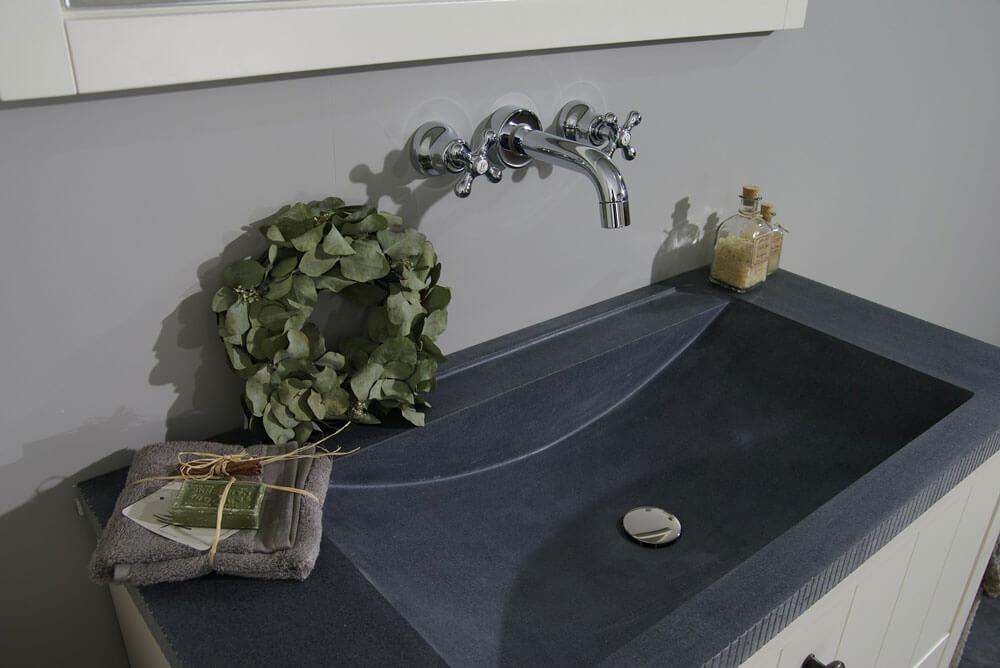 Natuursteen wastafels - Granieten Wasbak Type 3 - 100 cm