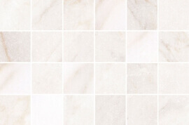Marmer Look vloertegels - Byron Calacatta Oro mozaïek