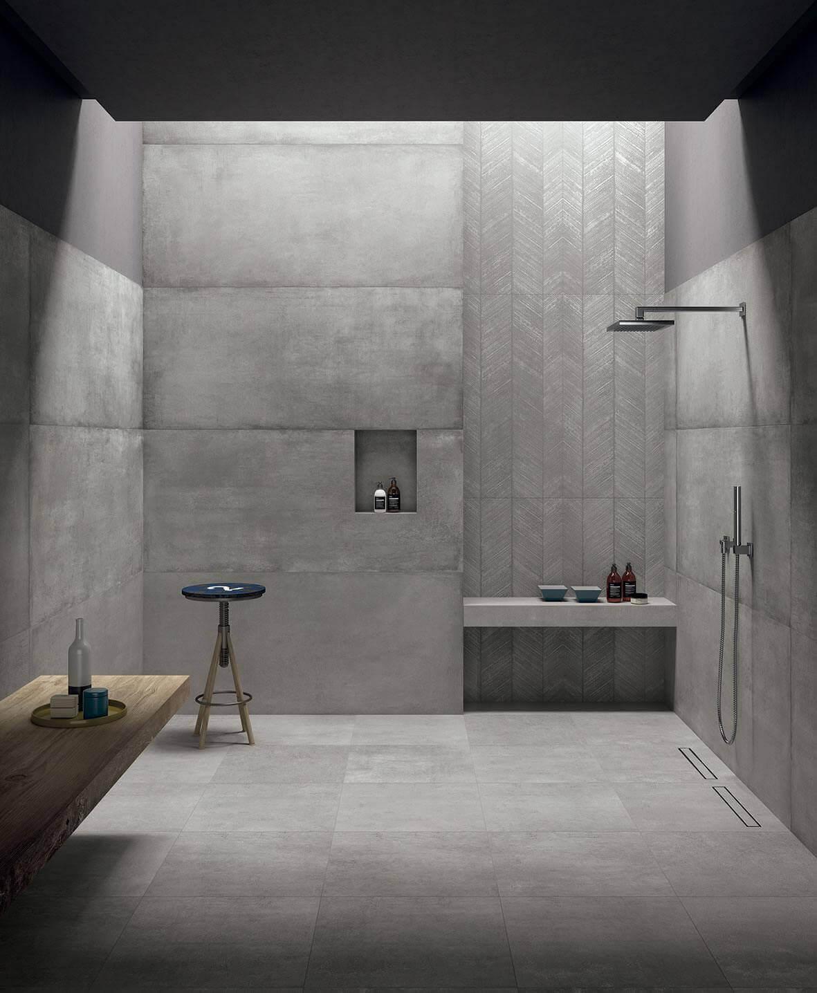 Wandtegels 25x75 - Prima Materia Cemento