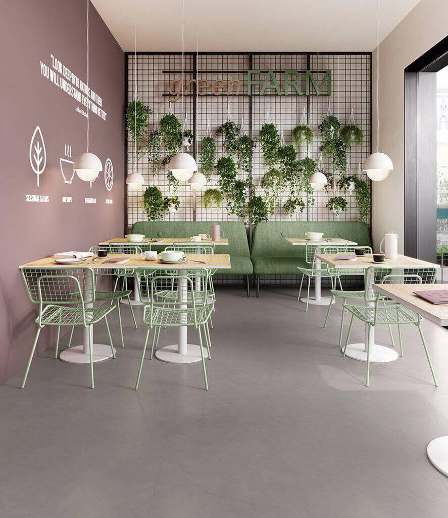 Vloertegels betonlook 90x90 cm - Insideart Ash