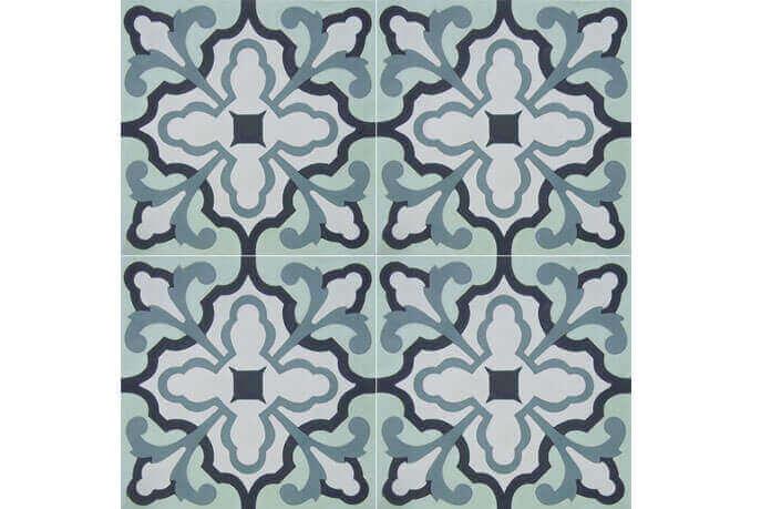 Portugese cementtegels vloer - Blue Delft