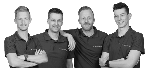 Sales team Daan, Marcel, Rob en Kevin