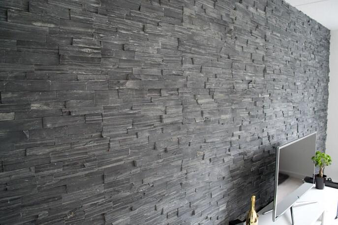 Impressies natuursteen meterik - Leisteen muur ...
